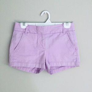 J.Crew Chino Shorts Purple Pink Size 00 Cotton